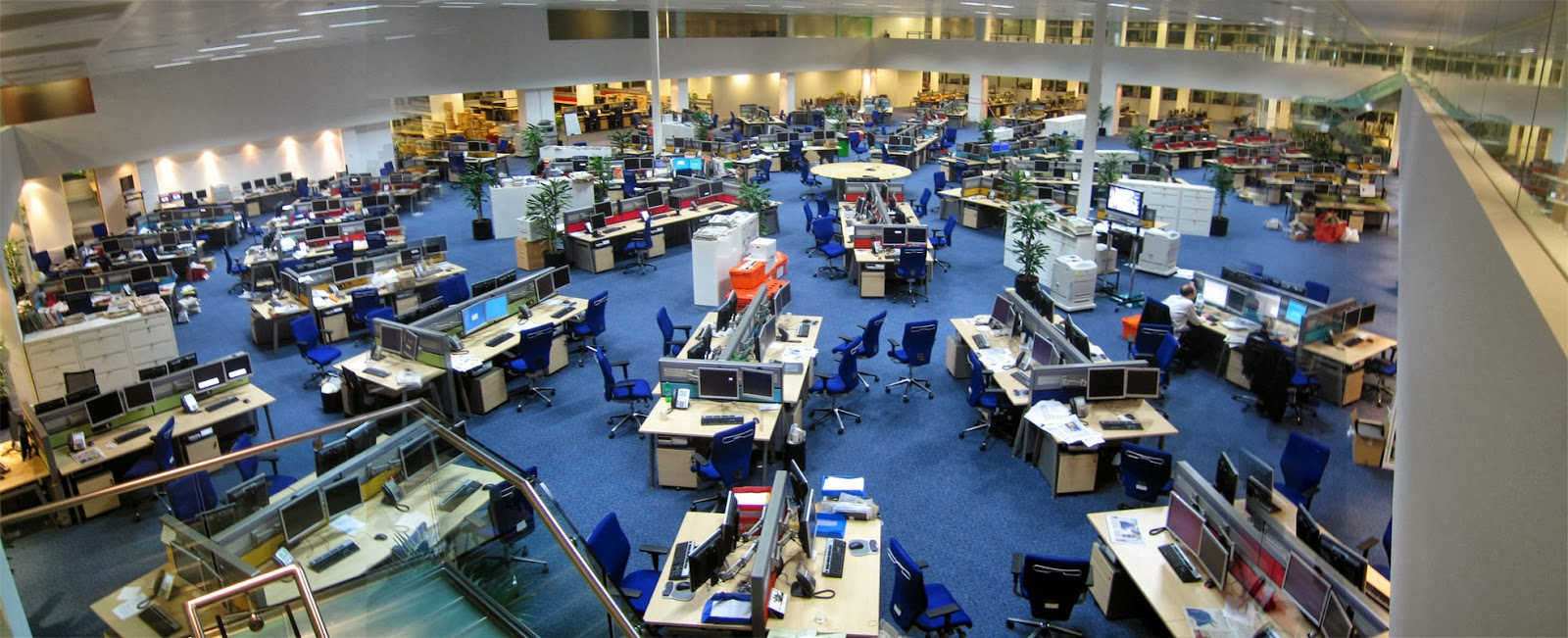 Example of open plan office